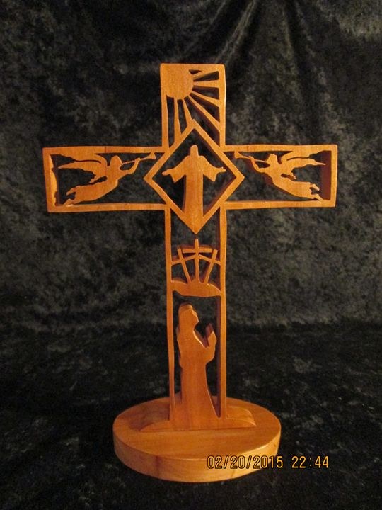 Christian Easter Story Wooden Cross - PXWoodNJoys
