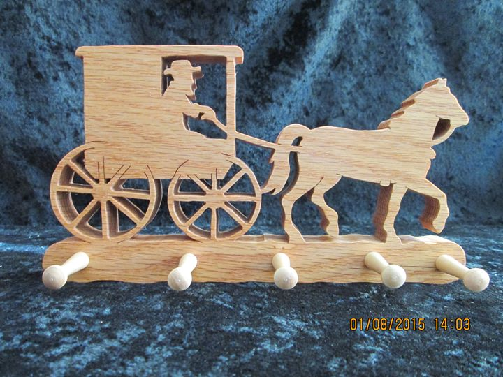 Amish Horse & Buggy Peg Hook - PXWoodNJoys