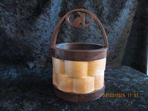 Basket-bunny in handle - PXWoodNJoys