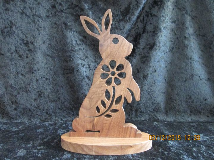 Wooden Chocolate Easter Bunny - PXWoodNJoys
