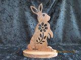 wooden chocolate bunny