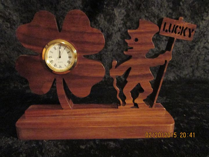 Lucky Shamrock Clock - Solid Wood - - PXWoodNJoys