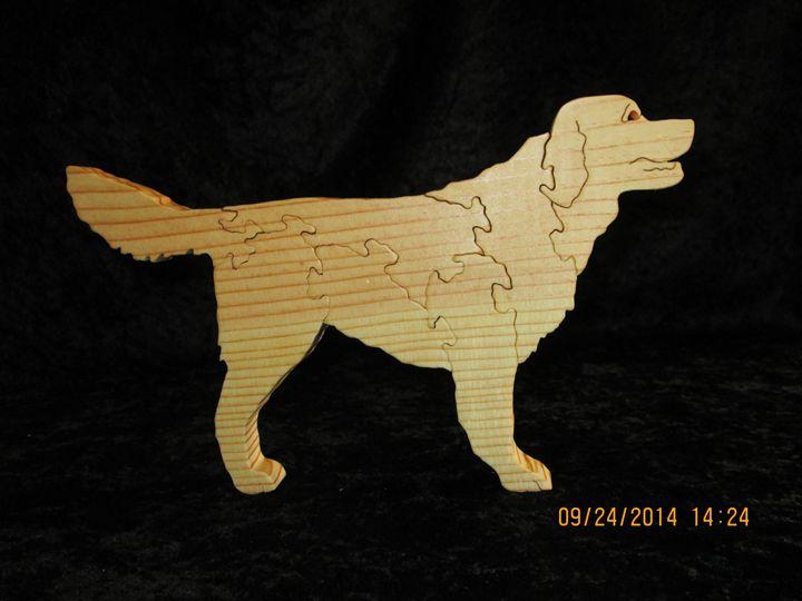Wooden Golden Retriever Puzzle - PXWoodNJoys