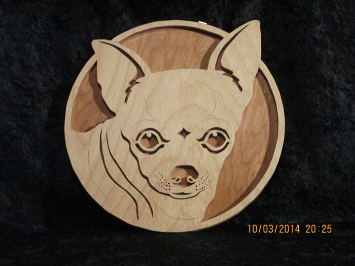 Chihuahua 3D Relief Portrait Wooden - PXWoodNJoys