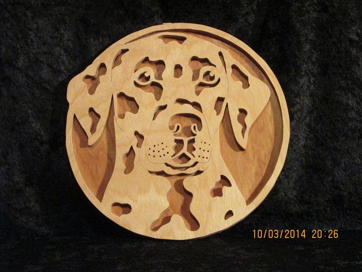 Wooden Dalmatian Portrait - PXWoodNJoys