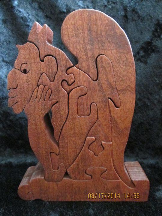 Pensive Gargoyle Wooden Puzzle - PXWoodNJoys
