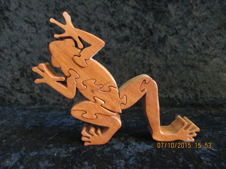 Wooden Tree Frog Puzzle Hand Made - PXWoodNJoys