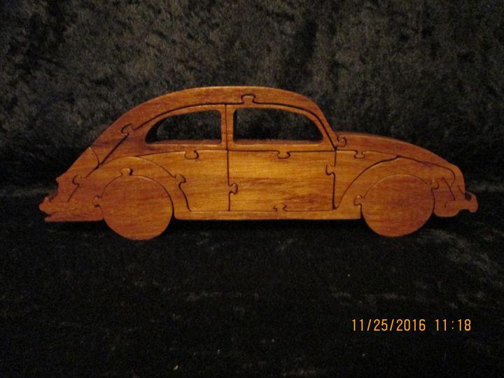 VW Bug Wooden Puzzle - PXWoodNJoys