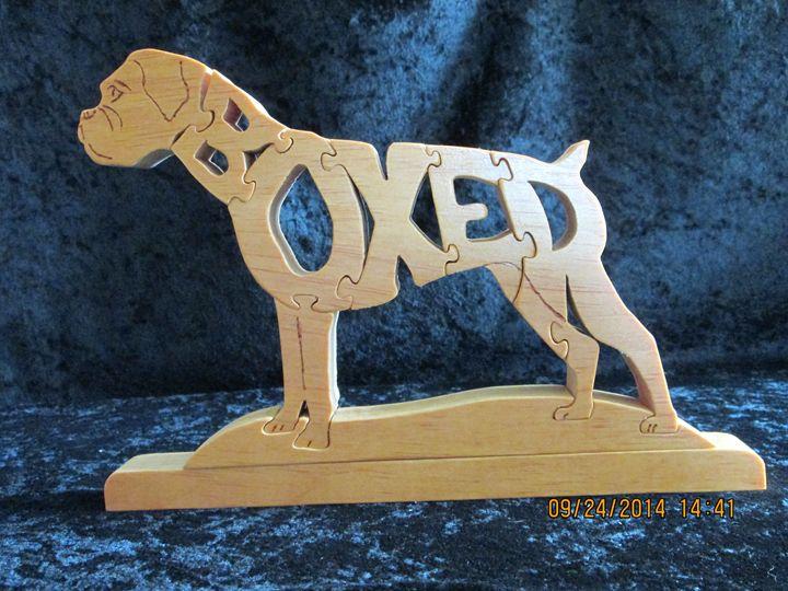 Wordimal Boxer Wooden Handmade - PXWoodNJoys