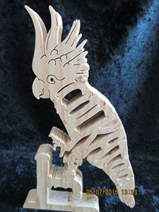 Wordimal Cockatoo Wooden Puzzle