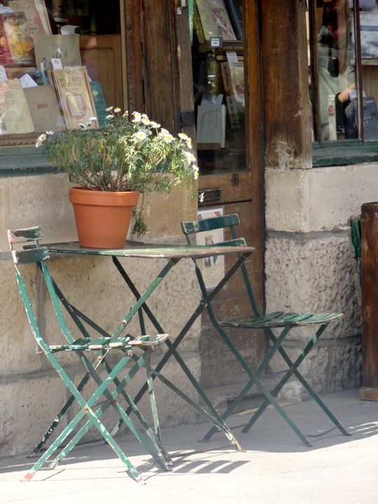 Porch of Shakespeare & Co. - Snapshots of a Life
