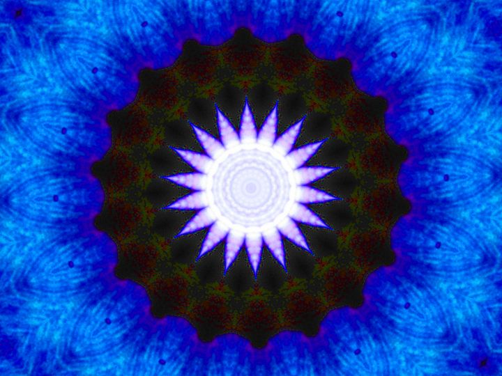 Blue Center Star - Museum of A Lot of Art MOLOA