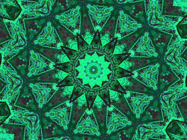Dark Green Owl Triangles - Museum of A Lot of Art MOLOA