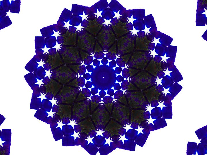 Blue 3D Stars - Museum of A Lot of Art MOLOA