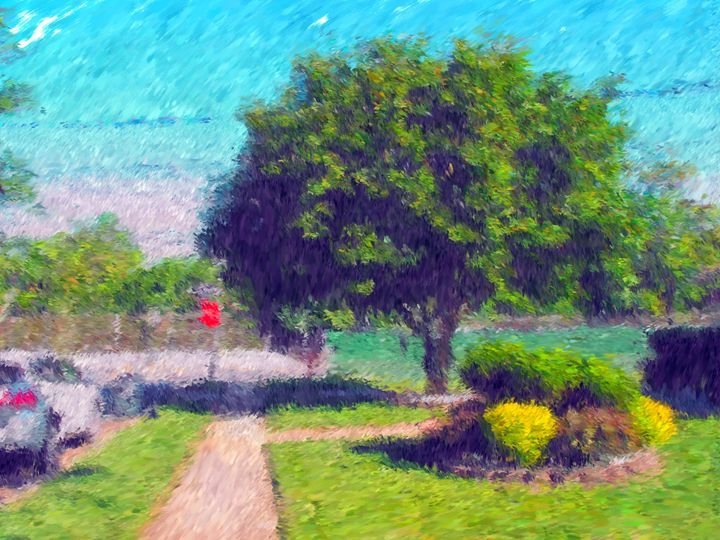 Tree and Bush Field - Museum of A Lot of Art MOLOA