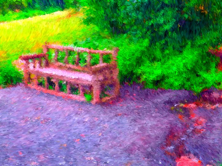 Red Bench - Museum of A Lot of Art MOLOA