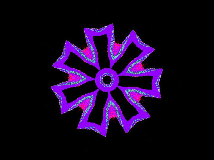 Purple Detalle - Museum of A Lot of Art MOLOA