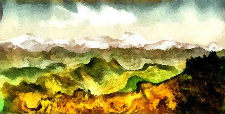 Sureal Mountain Tips - Museum of A Lot of Art MOLOA