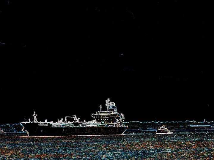Ship and Tug - Museum of A Lot of Art MOLOA