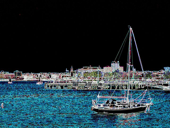 Sailboat Resting - Museum of A Lot of Art MOLOA