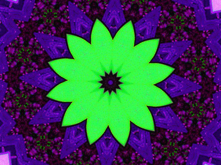 Green Flower - Museum of A Lot of Art MOLOA