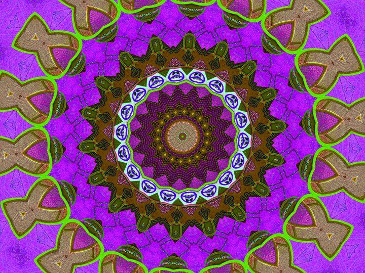 Purple Circular Stitchings - Museum of A Lot of Art MOLOA