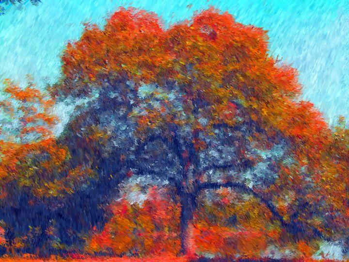 Reddish Fall Tree 2 - Museum of A Lot of Art MOLOA