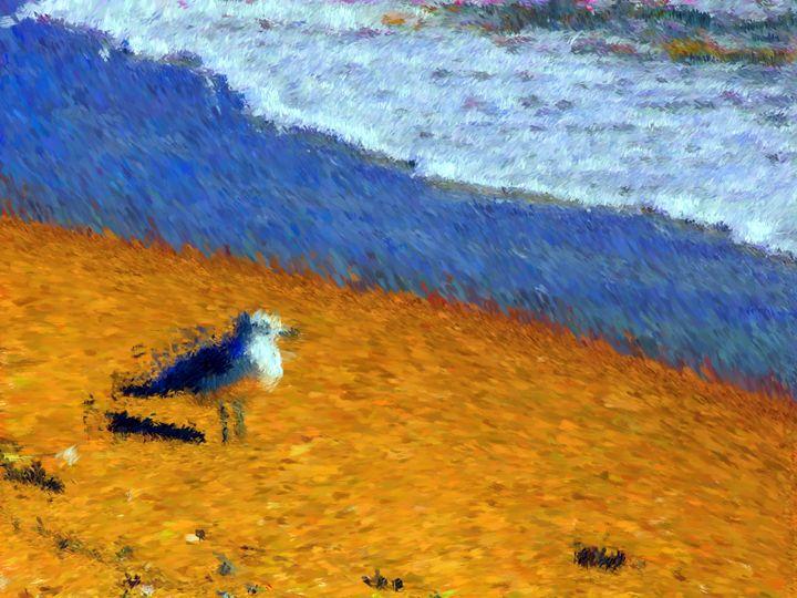 Bird on Beach - Museum of A Lot of Art MOLOA