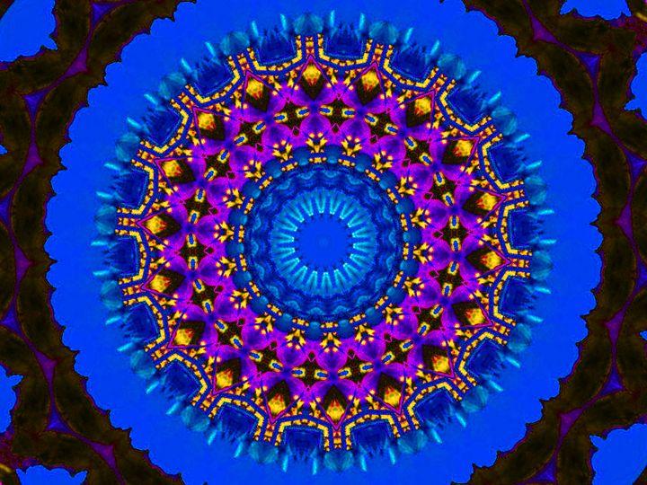 Blue Geometric Flower - Museum of A Lot of Art MOLOA