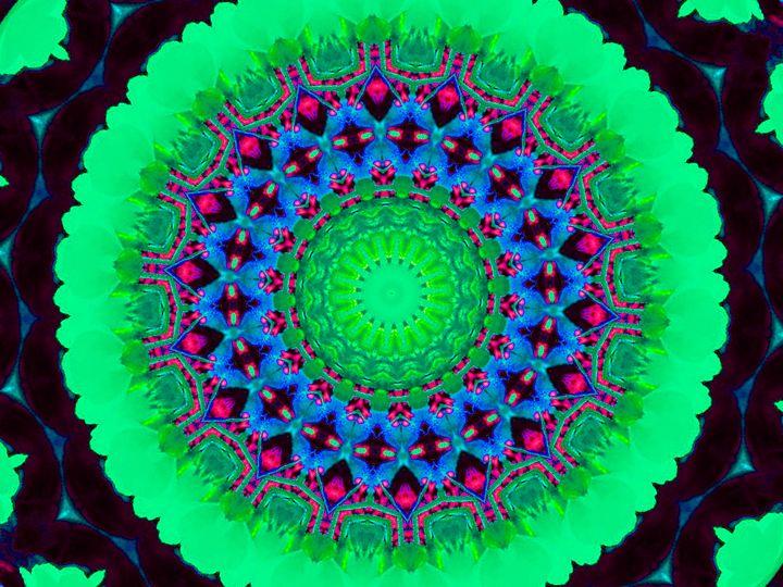 Green Geometric Flower - Museum of A Lot of Art MOLOA