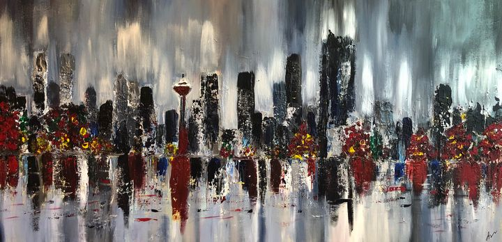 Calgary at night - Paint ur Art Out