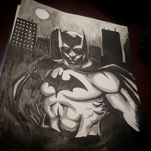 Dark Knight - Art by Aaron