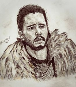 sketch of kit harington (JonSnow)