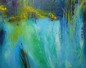Torrent, oil on canvas, 190x150 cm.