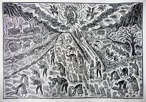 Biblical illustration,Ruth and Booz