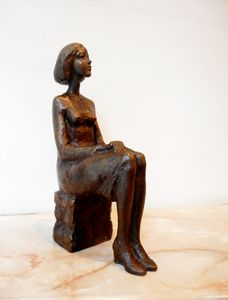 Art statuette of a young girl