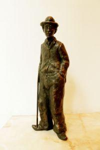 Bronze statue of Charlie Chaplin