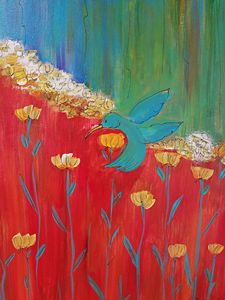 Hummingbird Garden - Wild Woman Studio