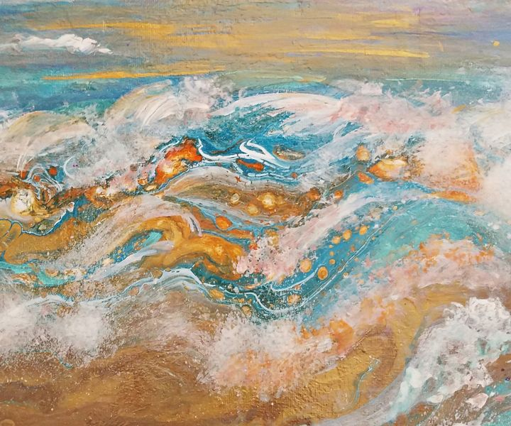 Coppery Sunset Sea - Wild Woman Studio