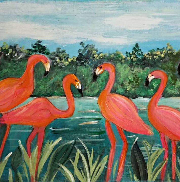 Flamingo Gathering - Wild Woman Studio
