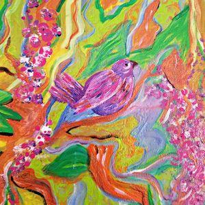 Pink Bird Garden Delight
