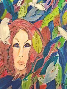 She walks among the trees - Wild Woman Studio