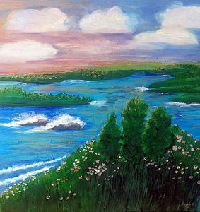 Sunset Over Irish Isles - Wild Woman Studio