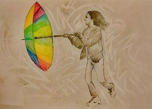 umbrella girl - dodgykenny kenneth van dael
