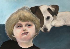 boy and his dog - dodgykenny kenneth van dael