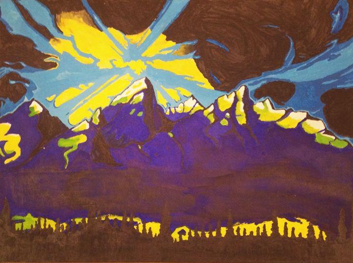 Mike Parillo Inspired Tetons - Angus Hills Art