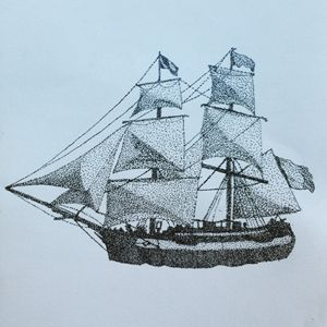 Stippling Ship