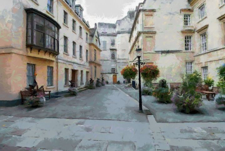 BATH,UK A Street Scene - Andrew Hay