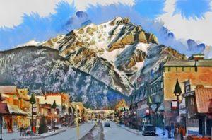 Banff, Canada Main Street