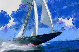 "Racing Yacht ""Rainbow"" J Class - Andrew Hay"